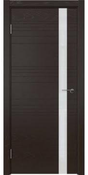 Межкомнатная дверь ZM014 (шпон ясень темный / лакобель белый) — 5355