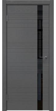 Межкомнатная дверь ZM014 (шпон ясень серый / лакобель черный) — 5358