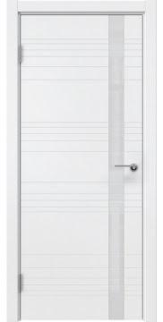 Межкомнатная дверь ZM014 (эмаль белая / лакобель белый) — 5363