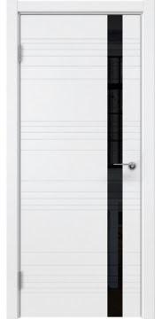 Межкомнатная дверь ZM014 (эмаль белая / лакобель черный) — 5364