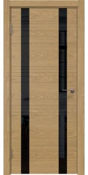 Межкомнатная дверь ZM015 (шпон дуб американский / лакобель черный) — 5366