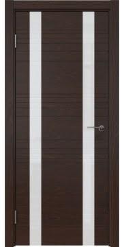 Межкомнатная дверь ZM015 (шпон дуб коньяк / лакобель белый) — 5367