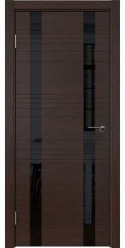 Межкомнатная дверь ZM015 (шпон дуб коньяк / лакобель черный) — 5368