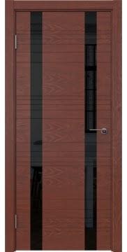 Межкомнатная дверь ZM015 (шпон красное дерево / лакобель черный) — 5370