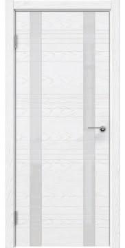 Межкомнатная дверь ZM015 (шпон ясень белый) / лакобель белый) — 5371