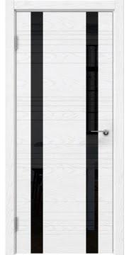 Межкомнатная дверь ZM015 (шпон ясень белый) / лакобель черный) — 5372