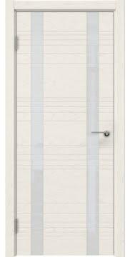 Межкомнатная дверь ZM015 (шпон ясень слоновая кость / лакобель белый) — 5373