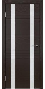 Межкомнатная дверь ZM015 (шпон ясень темный / лакобель белый) — 5375