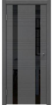 Межкомнатная дверь ZM015 (шпон ясень серый / лакобель черный) — 5378