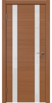 Межкомнатная дверь, ZM015 (шпон анегри, лакобель белый)