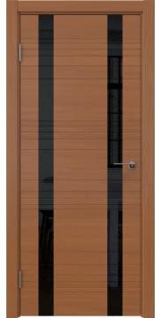 Межкомнатная дверь ZM015 (шпон анерги / лакобель черный) — 5380