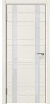 Межкомнатная дверь, ZM015 (эмаль слоновая кость, лакобель белый)