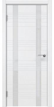 Межкомнатная дверь ZM015 (эмаль белая / лакобель белый) — 5383