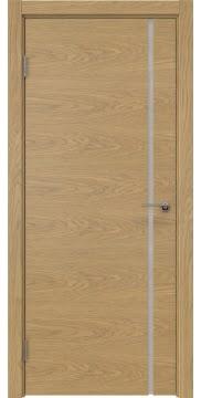 Межкомнатная дверь ZM016 (натуральный шпон дуба / триплекс белый) — 5405