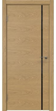 Межкомнатная дверь ZM016 (натуральный шпон дуба / триплекс черный) — 5406