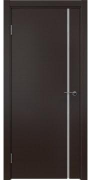 Межкомнатная дверь, ZM016 (шпон венге, триплекс белый)