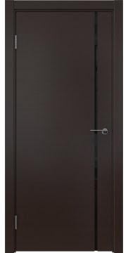 Межкомнатная дверь, ZM016 (шпон венге, триплекс черный)