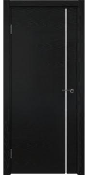 Межкомнатная дверь ZM016 (шпон ясень черный / триплекс белый) — 5769