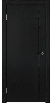 Межкомнатная дверь ZM016 (шпон ясень черный / триплекс черный) — 5770