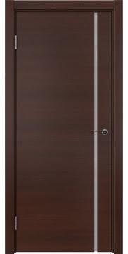 Межкомнатная дверь, ZM016 (шпон итальянский орех, триплекс белый)