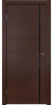 Межкомнатная дверь, ZM016 (шпон итальянский орех, триплекс черный)