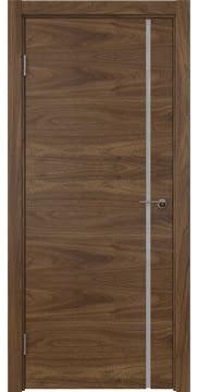 Межкомнатная дверь ZM016 (шпон американский орех / триплекс белый) — 5763