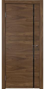 Межкомнатная дверь ZM016 (шпон американский орех / триплекс черный) — 5764