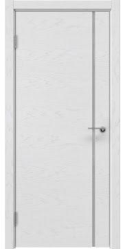 Межкомнатная дверь ZM016 (шпон ясень светло-серый / лакобель белый) — 5888