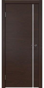 Межкомнатная дверь ZM016 (шпон дуб коньяк / триплекс белый) — 5407