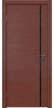 Межкомнатная дверь ZM016 (шпон красное дерево / триплекс черный) — 5410