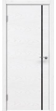 Дверь модерн ZM016 (шпон белый ясень, триплекс черный)
