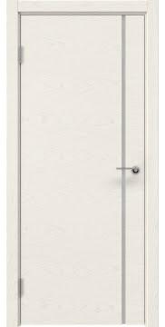Межкомнатная дверь ZM016 (шпон ясень слоновая кость / триплекс белый) — 5413