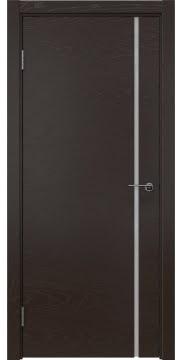Межкомнатная дверь ZM016 (шпон ясень темный / триплекс белый) — 5415