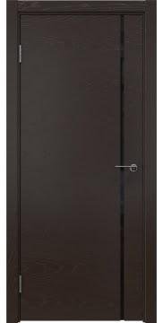 Межкомнатная дверь ZM016 (шпон ясень темный / триплекс черный) — 5416