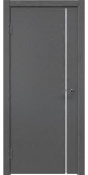 Межкомнатная дверь, ZM016 (шпон ясень серый, триплекс белый)