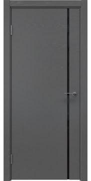 Межкомнатная дверь ZM016 (шпон ясень серый / триплекс черный) — 5418
