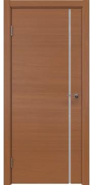 Межкомнатная дверь, ZM016 (шпон анегри, триплекс белый)
