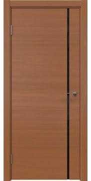 Межкомнатная дверь, ZM016 (шпон анегри, триплекс черный)