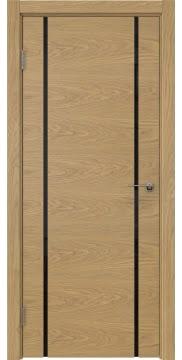 Межкомнатная дверь ZM017 (натуральный шпон дуба / триплекс черный) — 5430