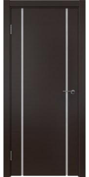 Межкомнатная дверь, ZM017 (шпон венге, триплекс белый)