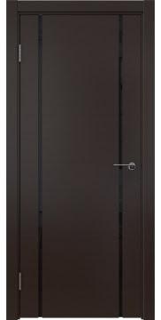 Межкомнатная дверь, ZM017 (шпон венге, триплекс черный)