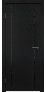 Межкомнатная дверь ZM017 (шпон ясень черный / триплекс черный) — 5778