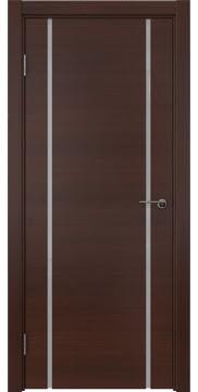 Межкомнатная дверь ZM017 (шпон итальянский орех / триплекс белый) — 5773