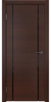 Межкомнатная дверь ZM017 (шпон итальянский орех / триплекс черный) — 5774