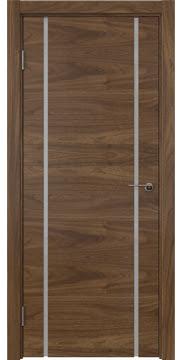 Межкомнатная дверь ZM017 (шпон американский орех / триплекс белый) — 5771