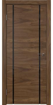 Межкомнатная дверь ZM017 (шпон американский орех / триплекс черный) — 5772