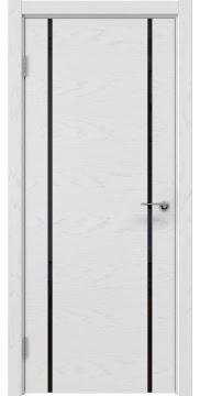 Межкомнатная дверь ZM017 (шпон ясень светло-серый / триплекс черный) — 5891