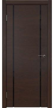 Межкомнатная дверь ZM017 (шпон дуб коньяк / триплекс черный) — 5432