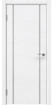 Межкомнатная дверь ZM017 (шпон ясень белый) / триплекс белый) — 5435
