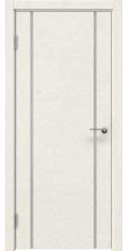 Межкомнатная дверь ZM017 (шпон ясень слоновая кость / триплекс белый) — 5437